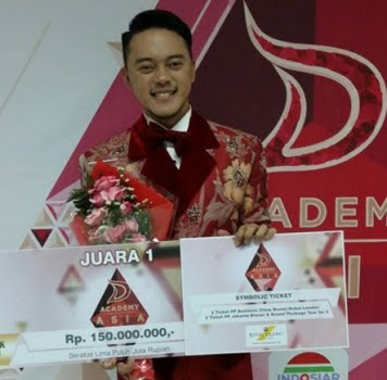 Danang Banyuwangi juara D'Academy Asia 2015.