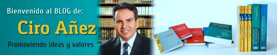 Bienvenido al Blog de Ciro Añez
