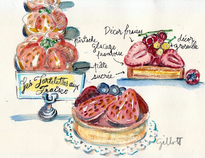Les Tartelettes aux Fraise by Carol Gillott