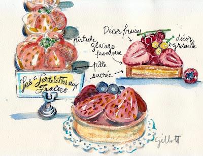 Les Tartelettes aux Fraise by Carol Gillott