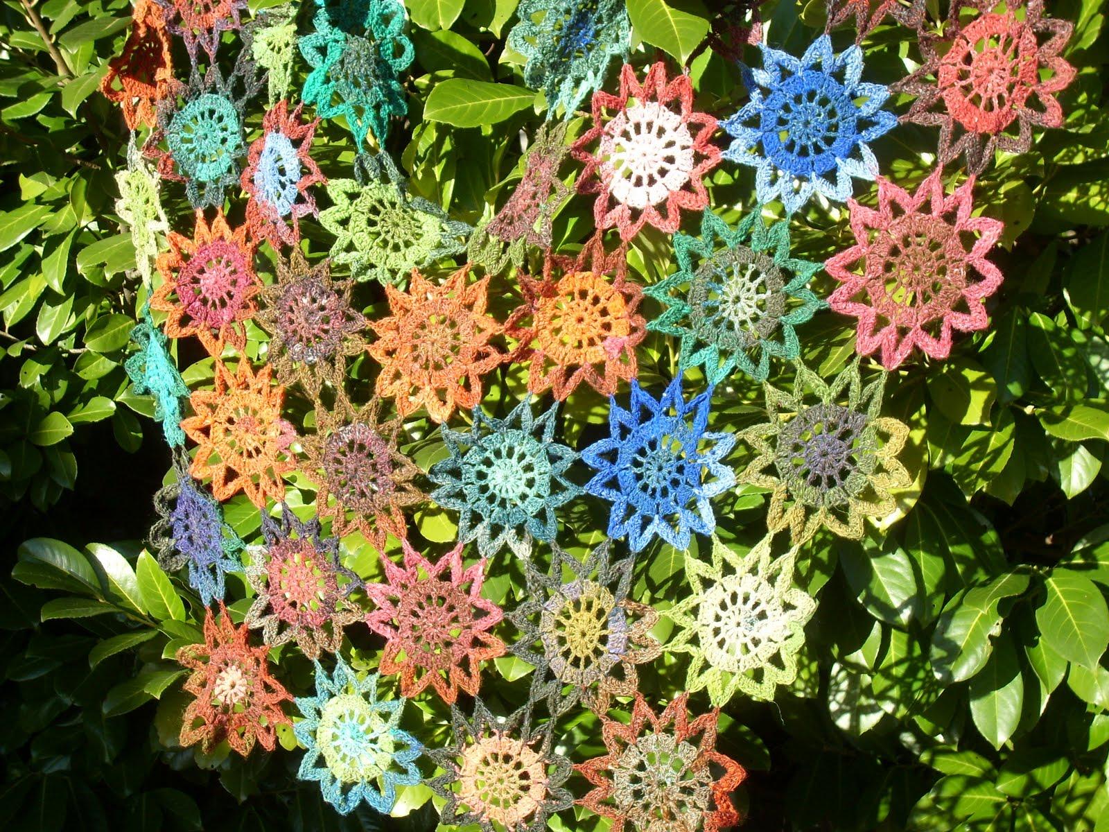 Bockfilz My Japanese flower shawl