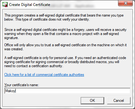 How To Digitally Sign Macros and Skip Macro Settings