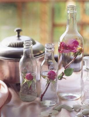 casa?, conviértelas en un centro de mesa acompañándolas con flores