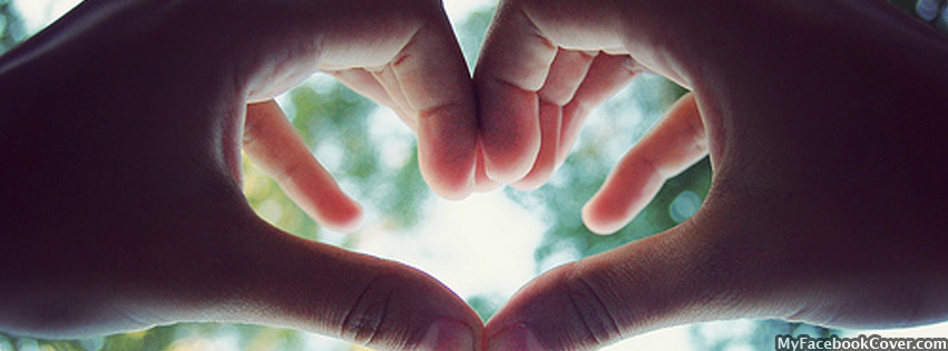Hand Heart Love - Facebook Covers