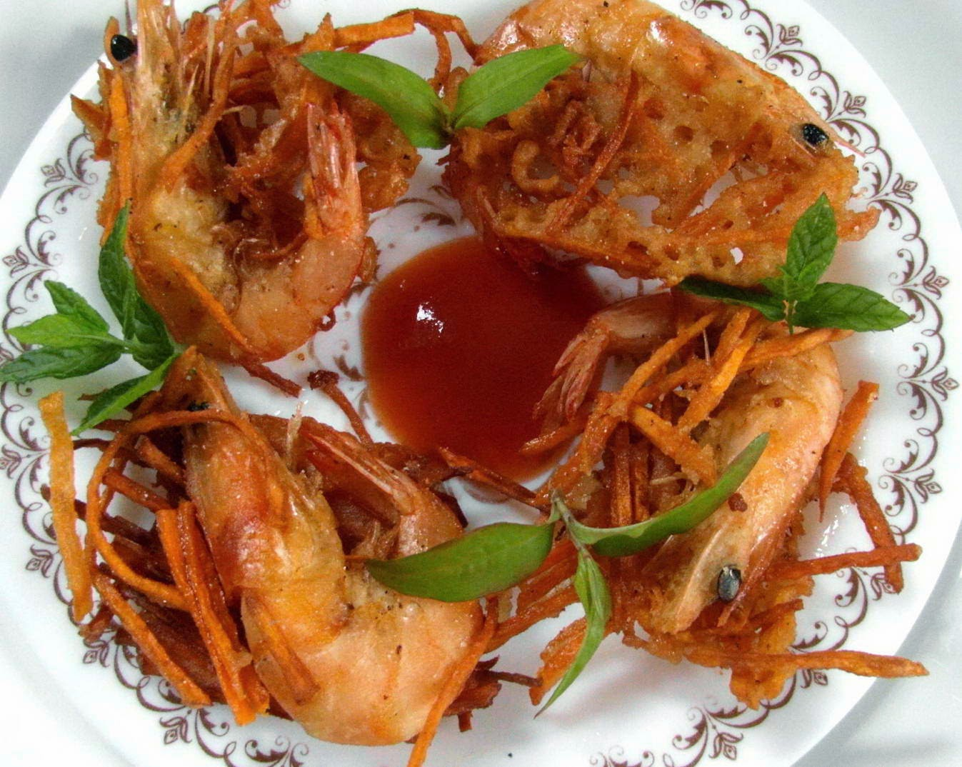 Vietnamese Food - Bánh Tôm Khoai Lang Chiên