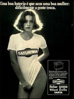 propaganda baterias Saturnia - 1976. brazilian advertising cars in the 70. os anos 70. história da década de 70; Brazil in the 70s; propaganda carros anos 70; Oswaldo Hernandez;
