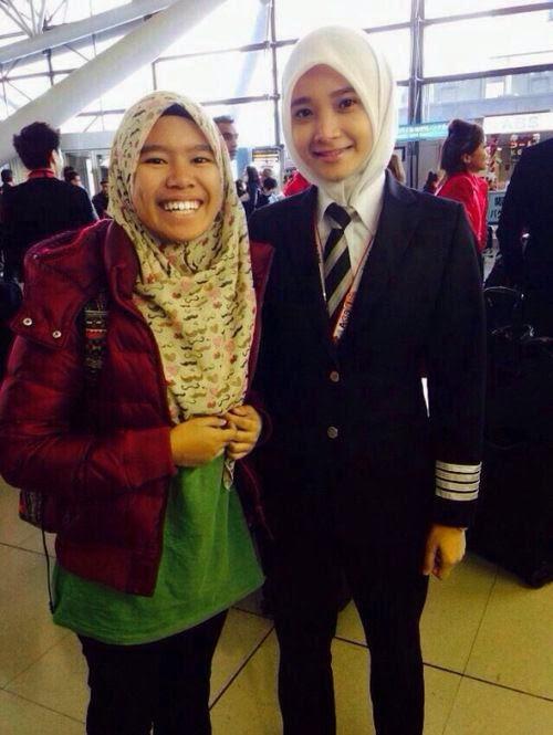 Noor Hafizah, Pilot Berhijab nan Cantik | asalasah.blogspot.com