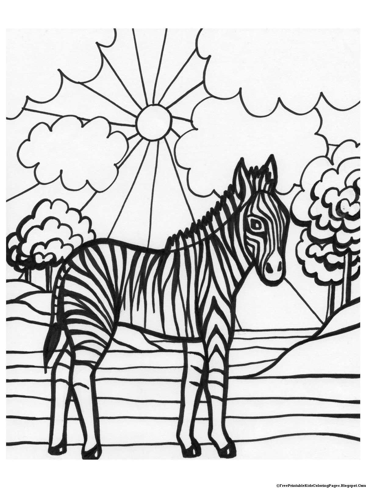 zebra coloring pages free - photo #31