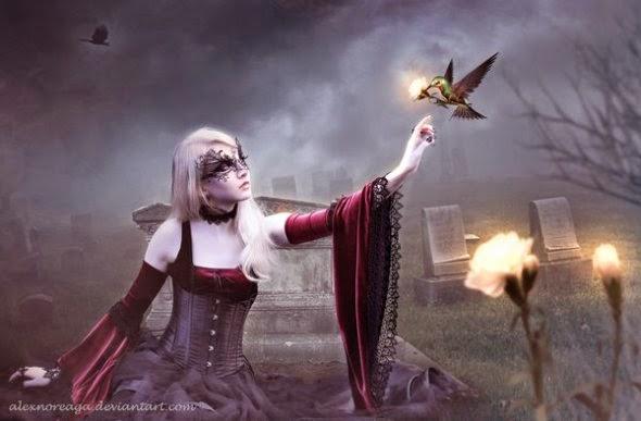 Alex Noreaga deviantart foto-manipulações photoshop mulheres sombrio fantasia terror