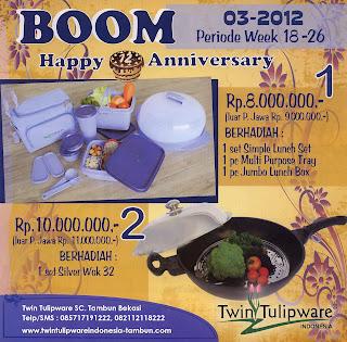 BOOM Tulipware | Mei - Juni 2012