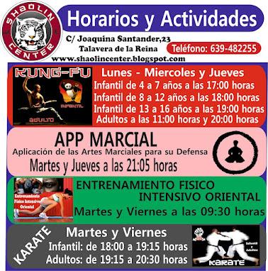 Horarios y Actividades