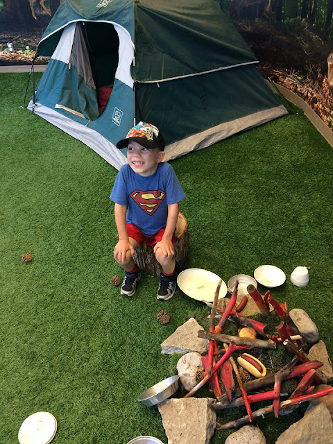 camping, camp fire, Kids Discovery Centre, pretend, tent, wilderness