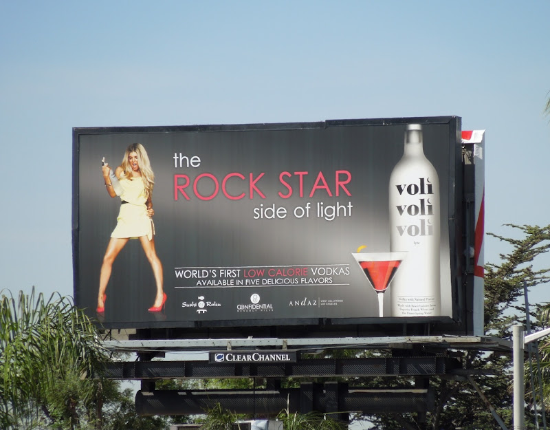 Voli Rock Star vodka billboard