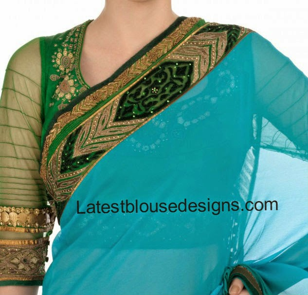 latest blouse neck models
