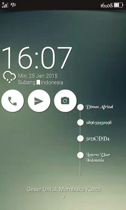 Buat Lockscreen  Zenfone Bonus Signal 4G LTE signal hijau Asus Zenfone