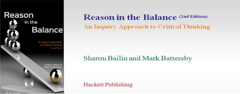 Reason in the Balance: An Inquiry Approach to Critical Thinking