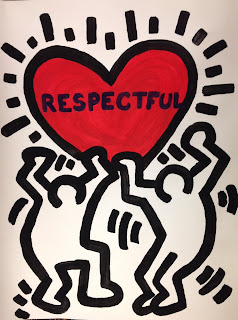 PBIS Keith Haring Inspired Poster Display