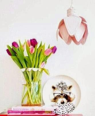 Pantallas para focos con forma de tulipan DIY