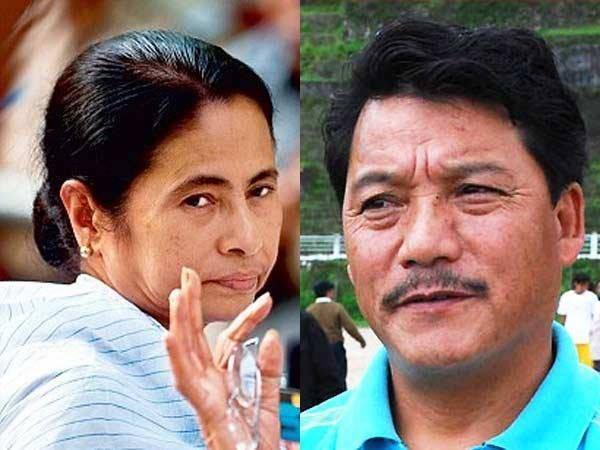 Bimal Gurung and Mamata Banerjee