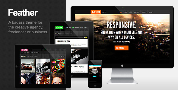 ThemeForest - Feather - Responsive Portfolio WordPress Theme