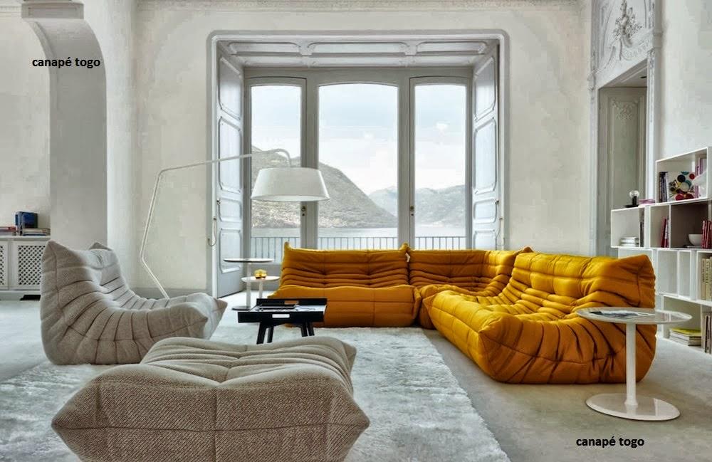 canape togo avec accoudoir. Black Bedroom Furniture Sets. Home Design Ideas