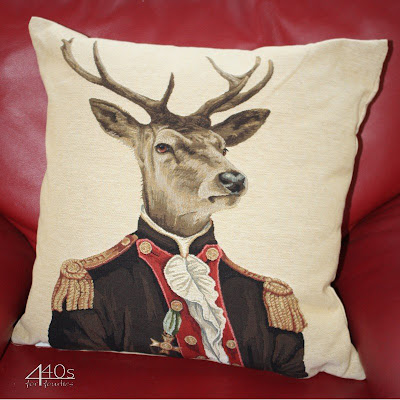 Anthropomorphism stag/deer pillow