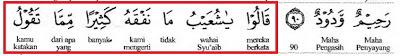 """Maksudnya: Mereka berkata """"wahai Syuaib tidaklah banyak kami memahami daripada apa yang engkau katakan"""". (Surah Hud: 91)"""