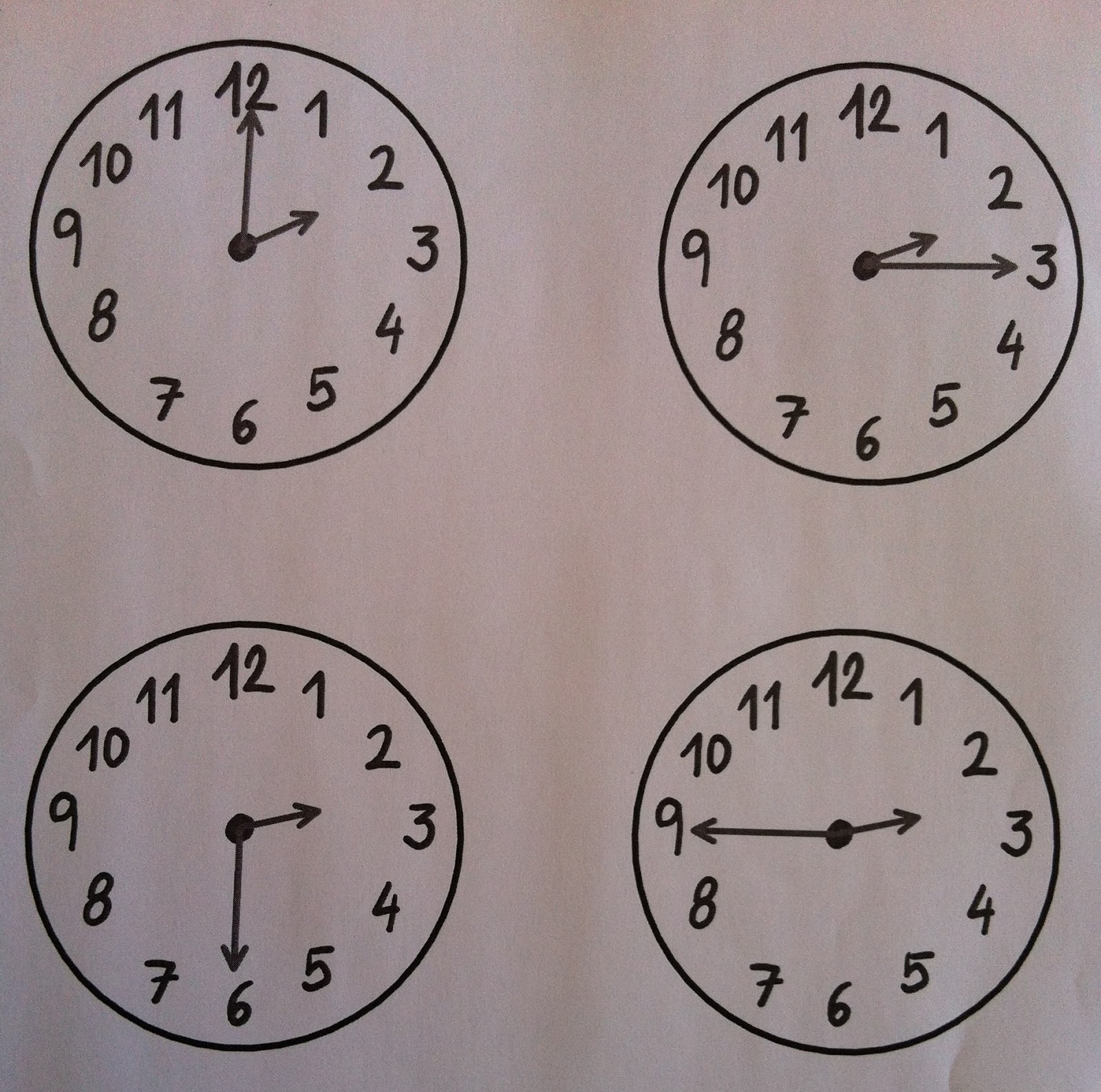 Reloj analogo para colorear imagui - Mecanismo para reloj de pared ...