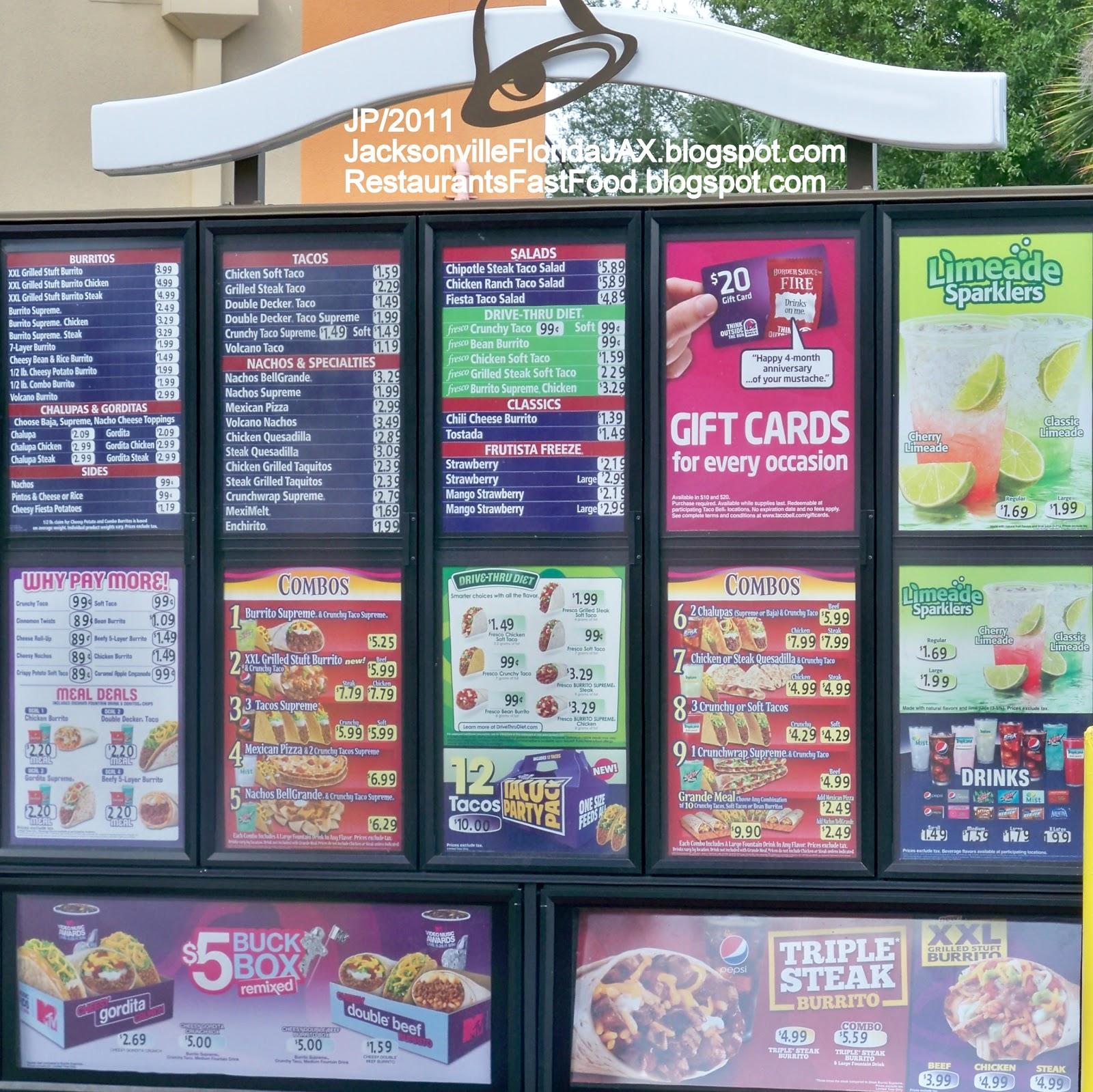 Taco Bell Menu 2013 | www.pixshark.com - Images Galleries ...  Taco