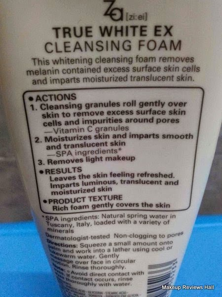 Za True Cleansing Foam