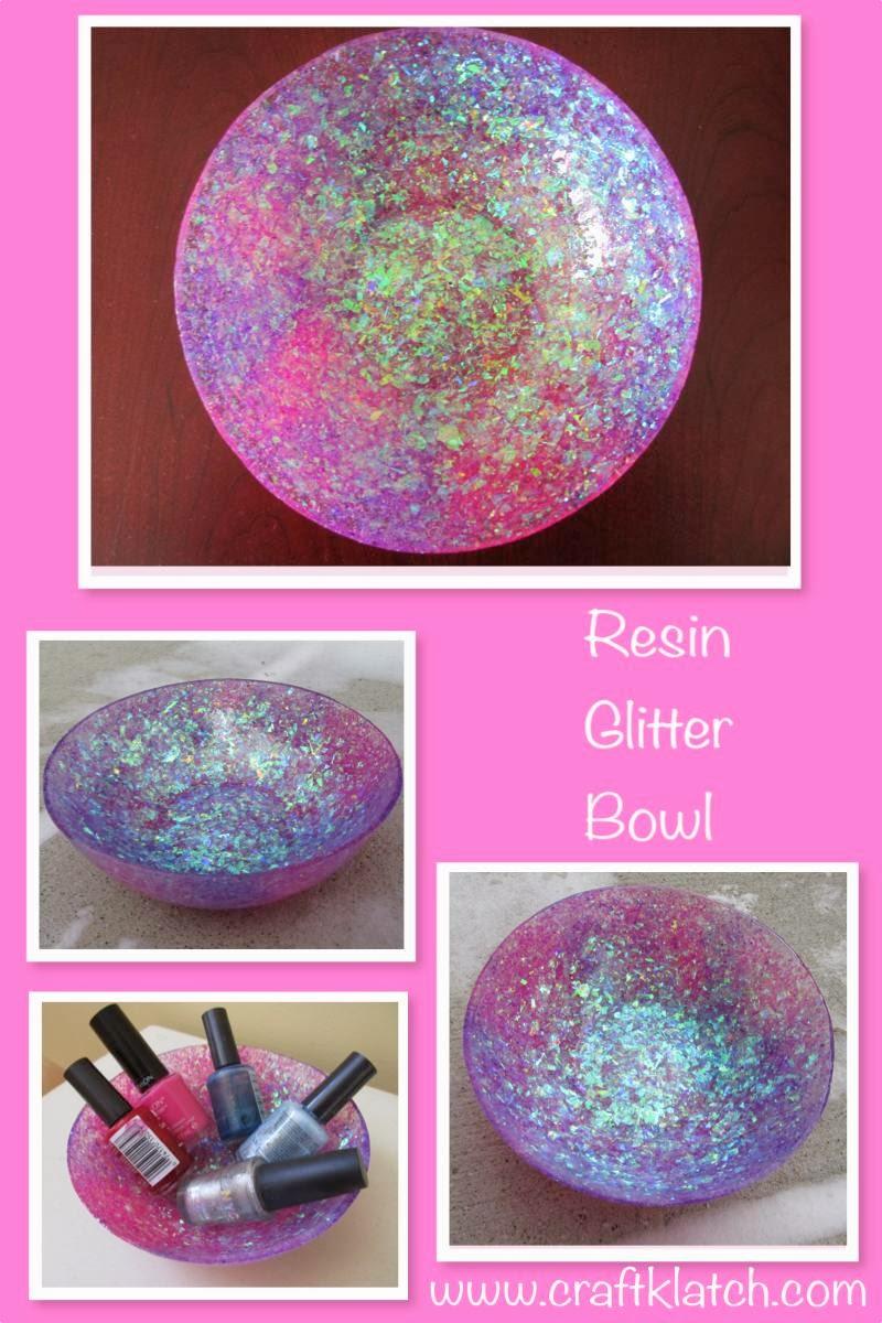 Craft klatch diy glam resin glitter bowl craft how to for Glitter bowl