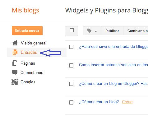 ¿Para qué sirve una entrada de Blogger?