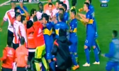 River Plate ile Boca Juniors Kavga Videosu