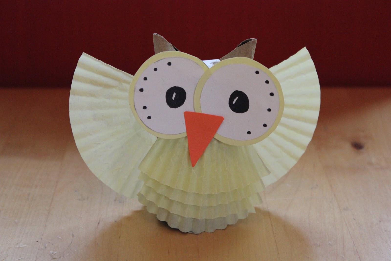 paper owl craft paper crafts. Black Bedroom Furniture Sets. Home Design Ideas