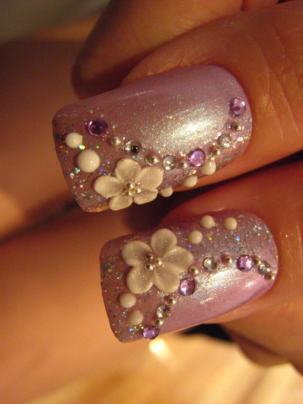 Jin jin 39 s adventures purple themed wedding nails - De coracion de unas ...