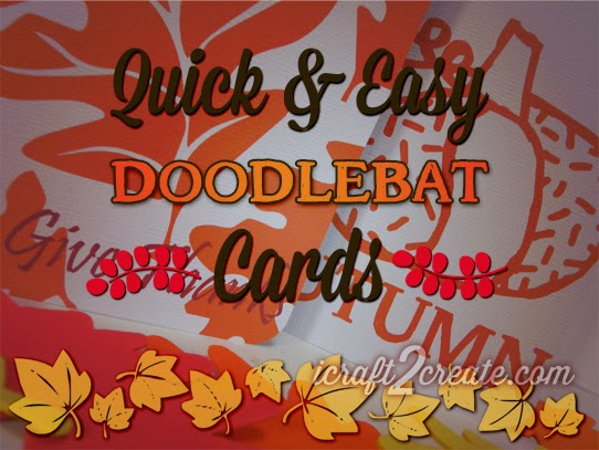 Lettering Delights, doodlebats, dingbats, autumn, thanksgiving, cards