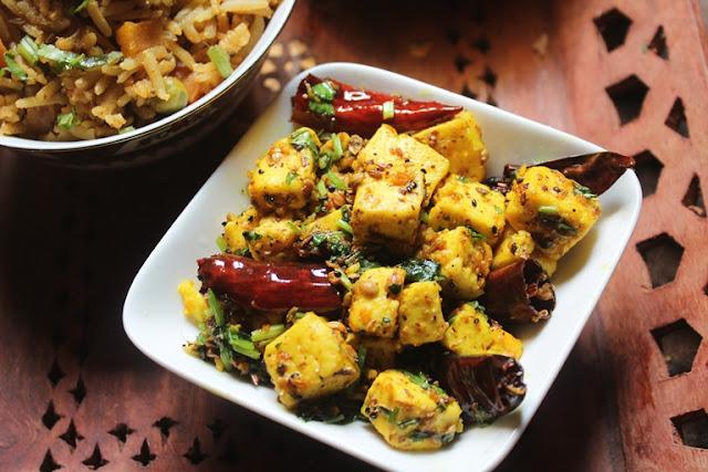 Achari Paneer Recipe - Achari Paneer Dry Recipe