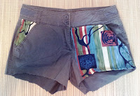 Fabric Embellished Shorts on UpcycleFever
