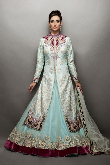 Net Lehenga Paired with Silk Jacket