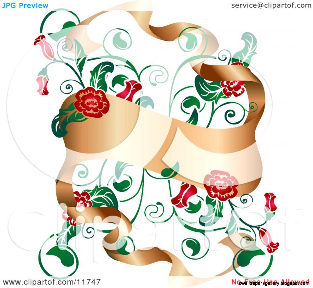 Flower Banner Clip Art