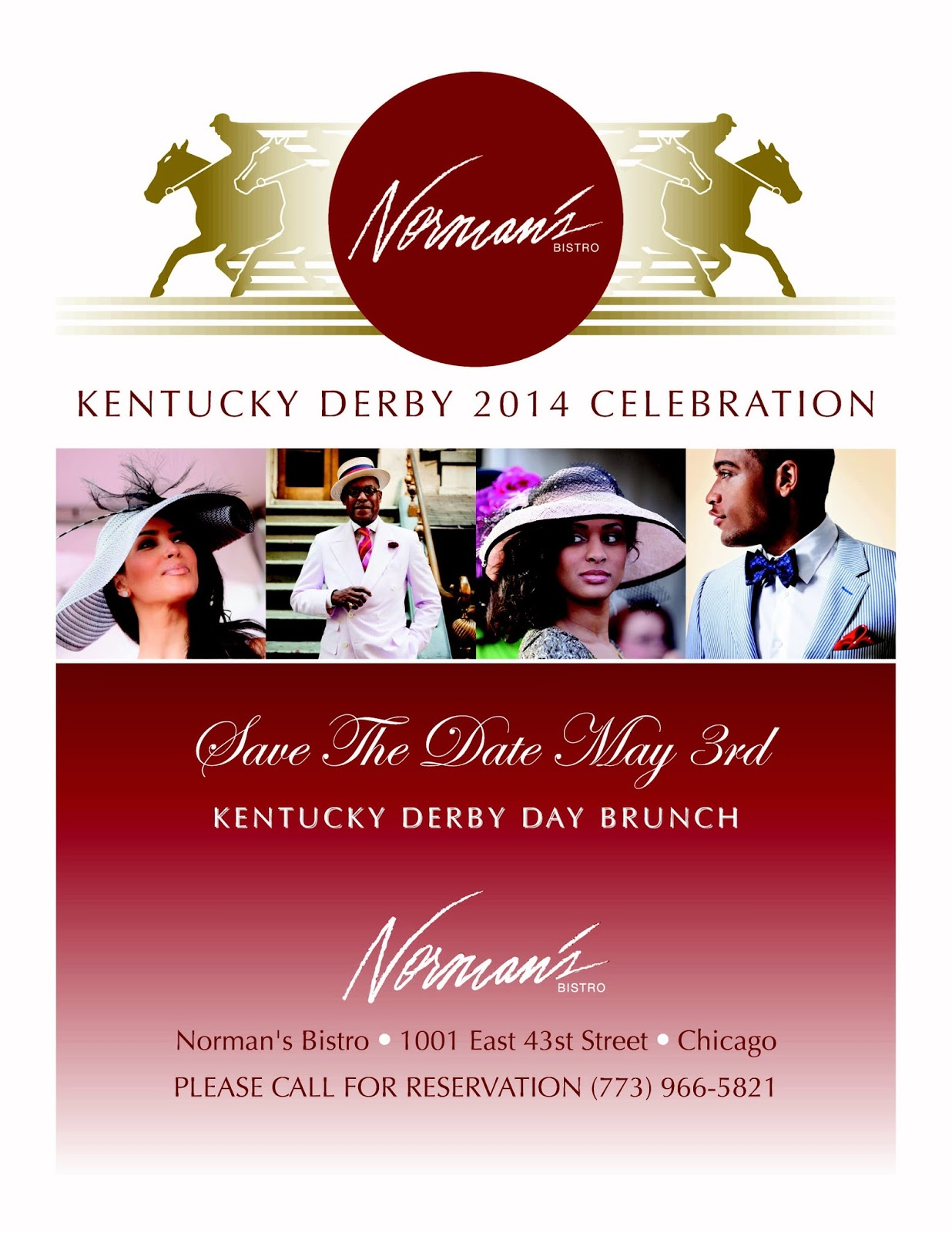 Normans Bistro Kentucky Derby Party Chicago