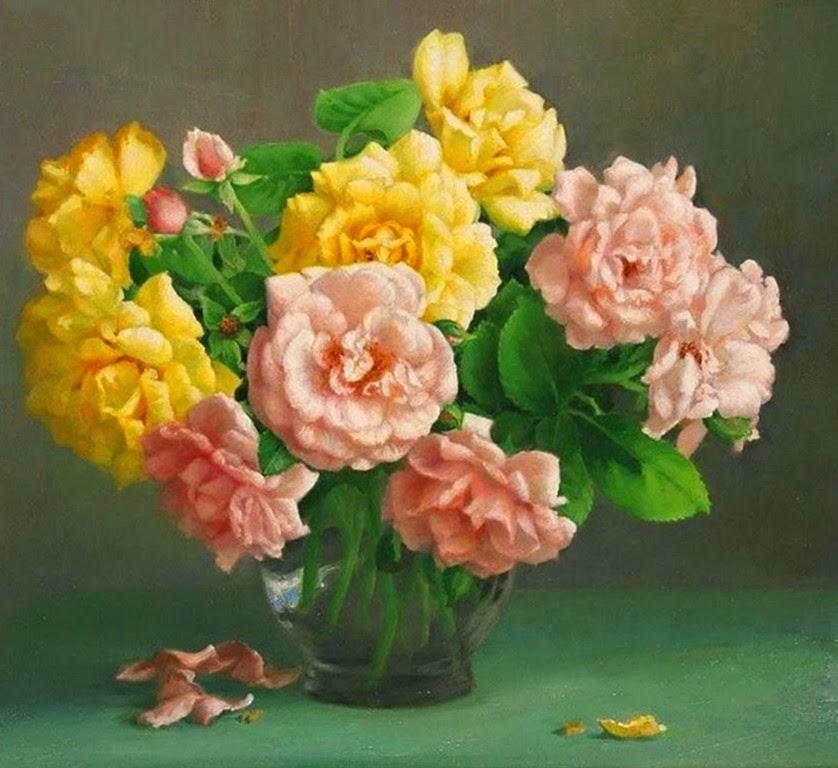 pintura-de-flores-en-cuadros