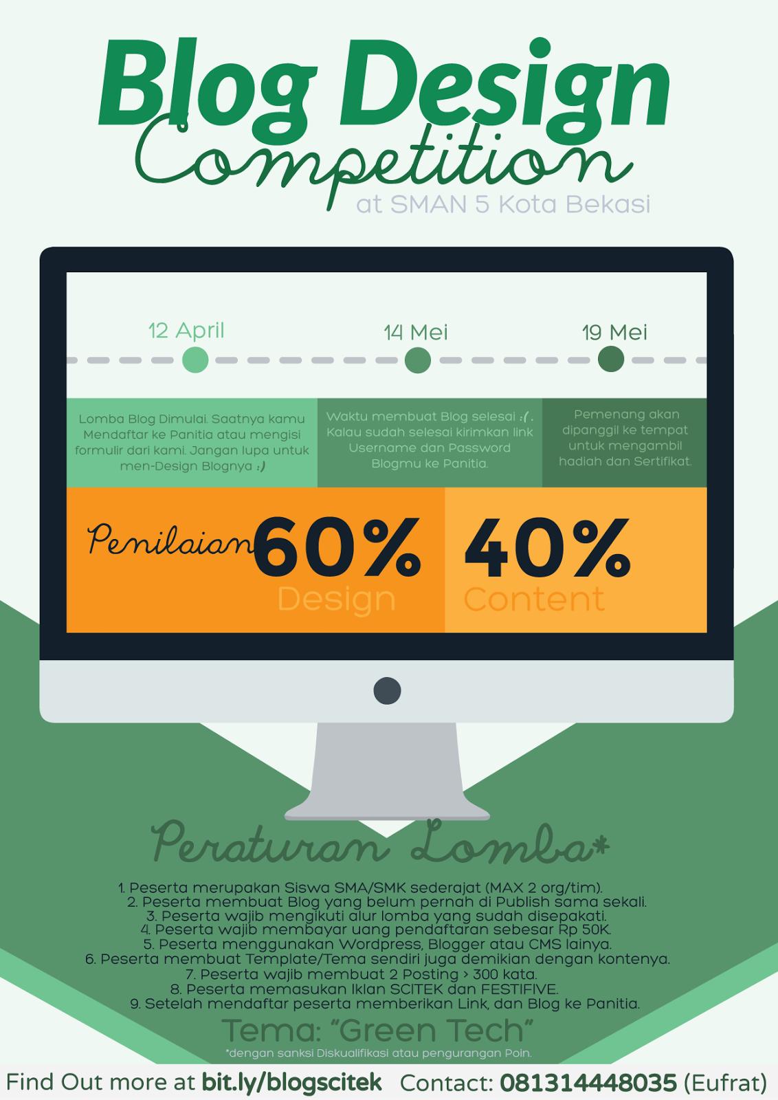 blog design competition sma  smk sederajat