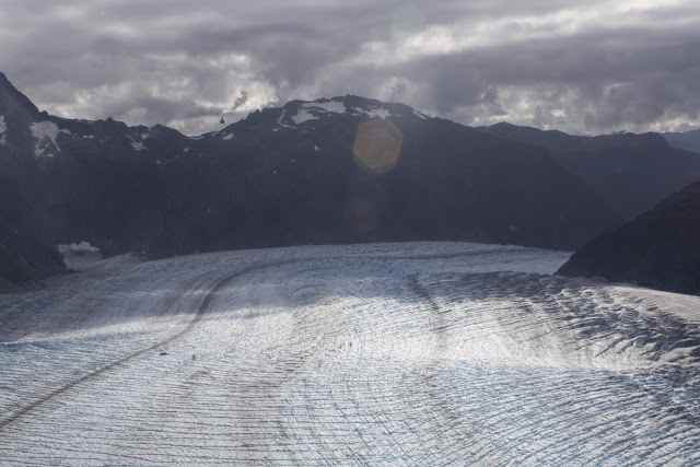 Helicopter View of Mendenhall Glacier