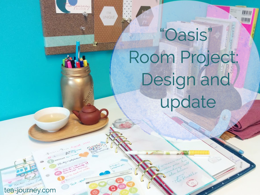 Oasis room project tea meditation space bedroom workroom blogger desk space planner studio calico kikki.k happie scrappie books #girlboss