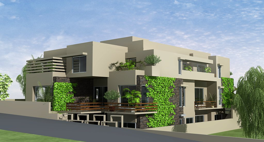 3d front pakistani sweet home houses floor for Pakistani homes design