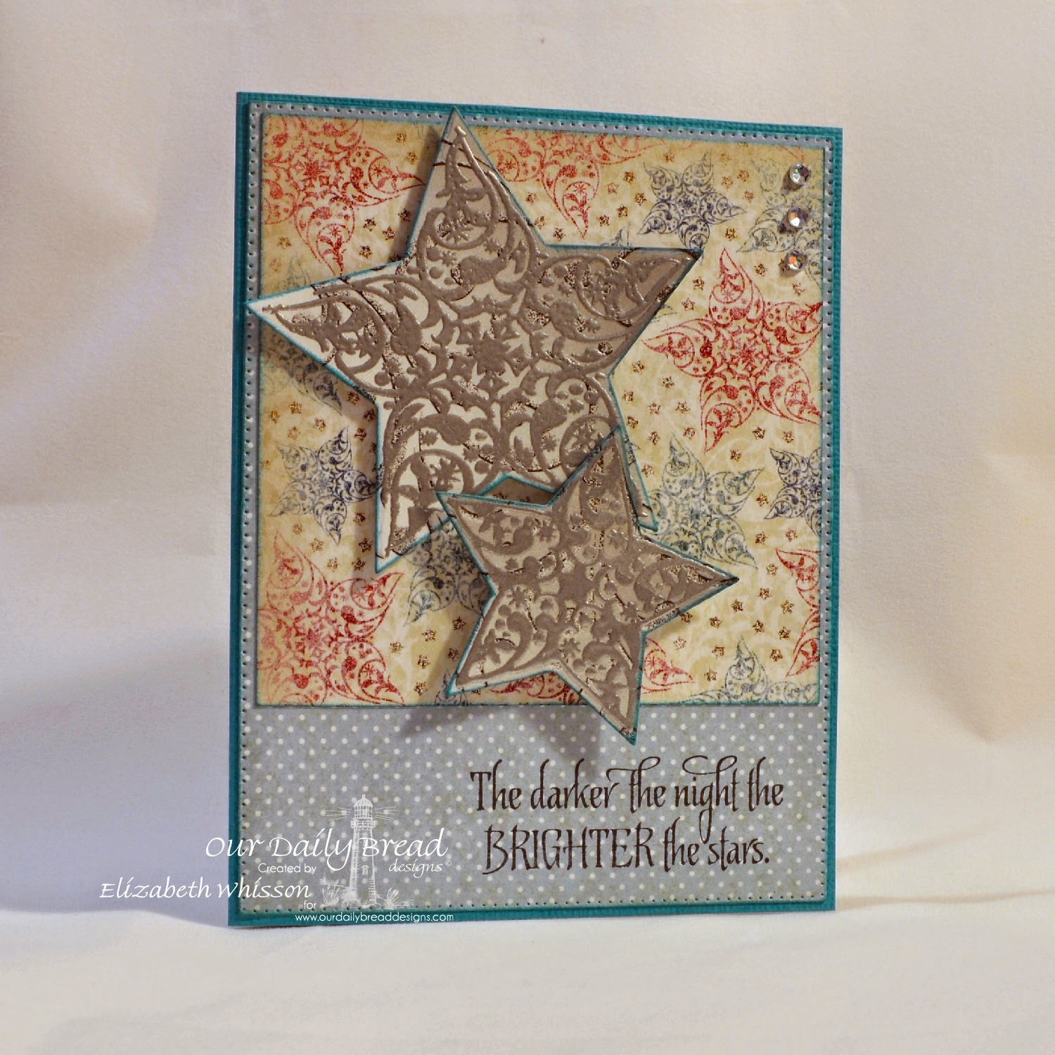 Elizabeth Whisson, Our Daily Bread Designs, Sparkling Stars Dies, Flourished Star Pattern Die, Christmas Paper Collection, Winter Paper Collection, Shine On
