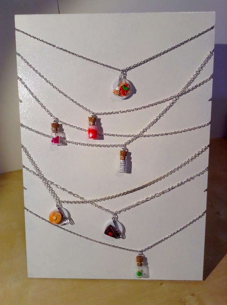 Jessy hand made tuorial costruire un espositore per collane fai da te con materiali di riciclo - Porta collane fai da te ...