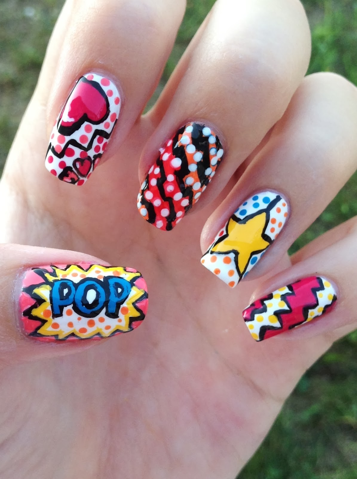 Nails By Bayles August Challenge Bold Nail Art