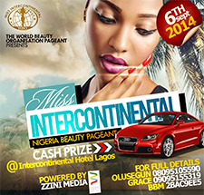 Miss Intercontinental Nigeria Pageant 2014